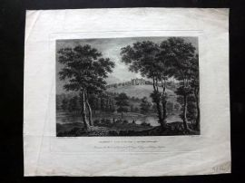Angus 1788 Antique Print. Oxenford in Scotland, the Seat of John Dalrymple